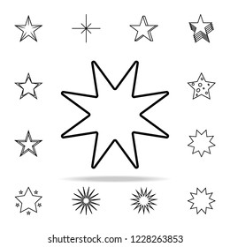 eight-pointed star line icon. Web icons universal set for web and mobile