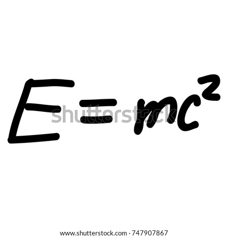 Einstein Energy Formula scribble
