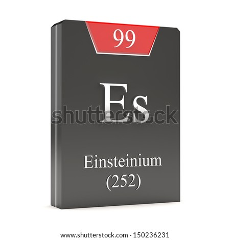 Einsteinium Es 99 Periodic Table Stock Illustration 150236231