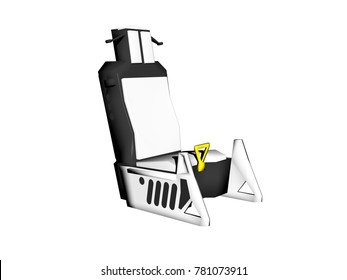 ejection seat 3D rendering