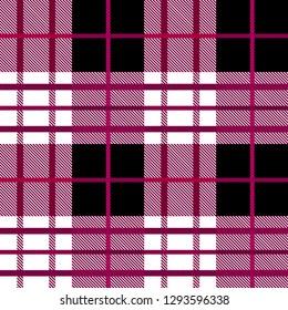 ekose red Tartan, plaid pattern.
