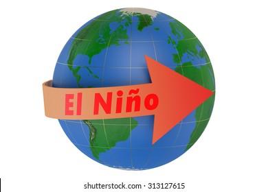 El nino concept isolated on white background