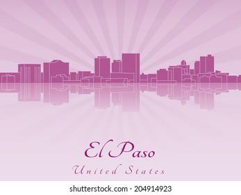 El Paso skyline in purple radiant orchid