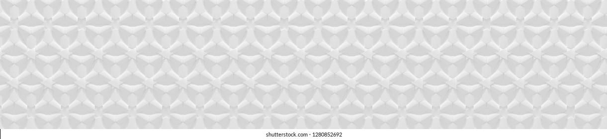 Elaborate White Website Head Background (3D Illustration)