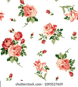 Elagant rose flower pattern, beautiful floral for print fashion