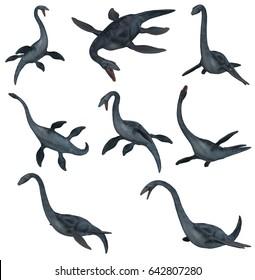 Elasmosaurus 3D Illustration