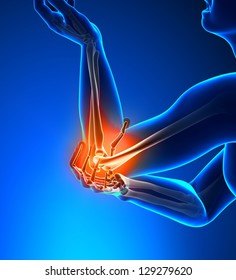 Elbow Pain Male - Side view