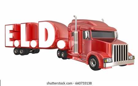 ELD Electronic Logging Devices Trucking 3d Illustration