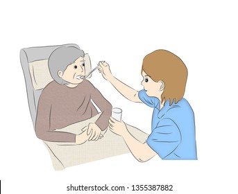elderly care feeding