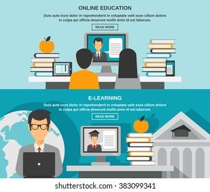 E-learning Banner Set