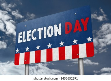 ELECTION DAY - traffic sign message