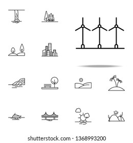 Electra windmills icon. Landspace icons universal set for web and mobile