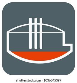 Electric arc furnace. Icon