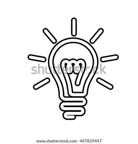Electric Bulb Symbol Stock Illustration