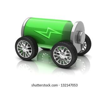 electric car 3d concept
