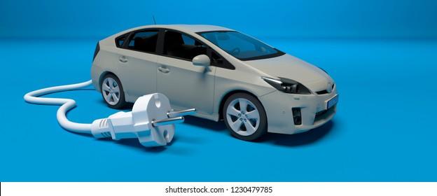 electric car 3D illustration