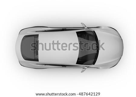 Electric Car Background On White Soft Stock Illustration 487642129