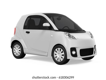 Electric Car Vehicle Isolated. 3D rendering