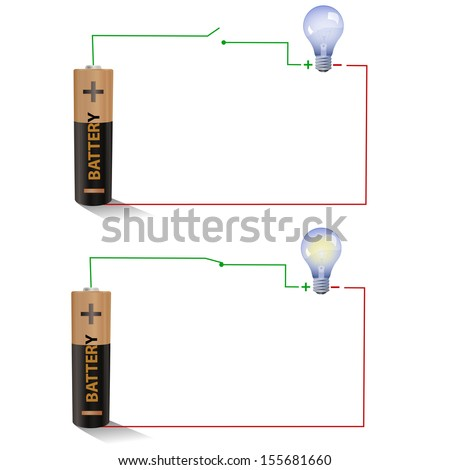 figure shows a simple circuit diagram with a battery an open switch