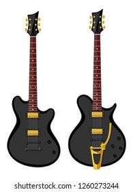 Electric guitars. Flat design