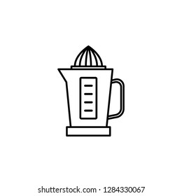 electric juicer, juice extractor, machine icon. Element of kitchen utensils icon for mobile concept and web apps. Detailed electric juicer, juice extractor, machine icon