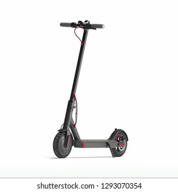 Electric scooter isolated on white background. eco transport. 3d rendering
