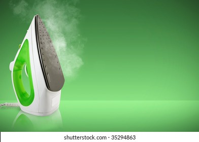 Electric steam iron, clipping path included