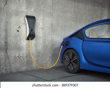Electric vehicle charging station for home. Original design.
