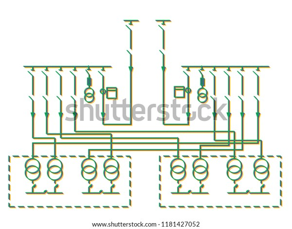 event wiring diagram electric wiring diagram power transformers stock illustration  electric wiring diagram power