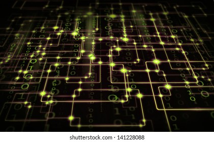 electrical synapse and binary code