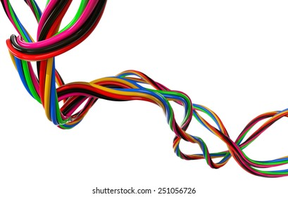 Electrical Wires on White