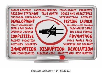 Electricity Power Energy Plug Business Model Plan Strategy Symbol Icon 3d Illustration
