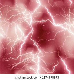 Electrifying Lightning Bolt Print