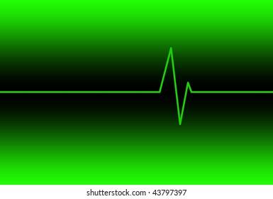 Electrocardiogram ECG EKG Electronic Heart Monitor Display Background Illustration.