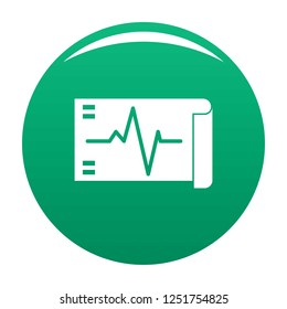 Electrocardiogram icon. Simple illustration of electrocardiogram icon for any design green