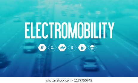 Electromobility Template for Presentation Icons Electric Car Business Design