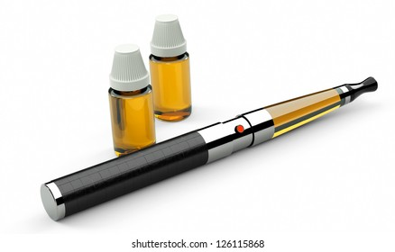 electronic cigarette leather and metal