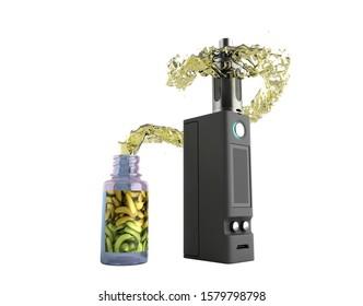 Electronic cigaretts Device box mod to smokeless smoking 3d render on white no shadow