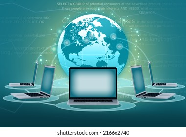 Electronic communications groups Laptop to transfer data