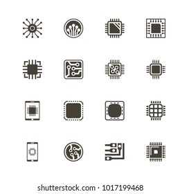Electronics icons. Flat Simple Icon - Gray Illustration on White Background.
