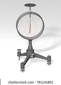 Electroscope. Used in physics education to demonstrate the principles of electrostatics. 3D illustration.