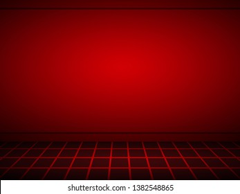 Elegant and beautiful studio background. Black and red background.