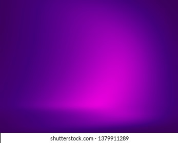 Elegant and beautiful studio background. Blue and purple background.
