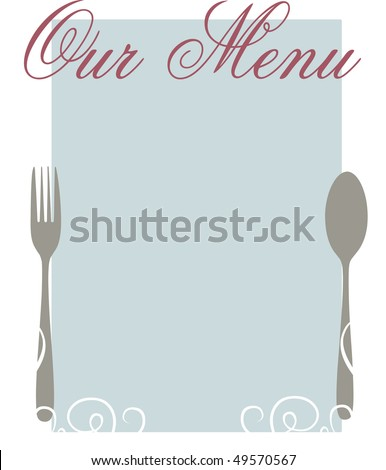 Elegant Blank Menu Template Stock Illustration Royalty Free Stock
