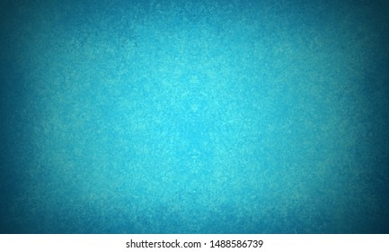 Elegant blue background with black vignette border with faint sponged and distressed texture design