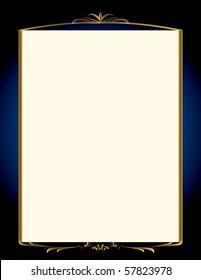 Elegant blue and gold background 1 - jpg version