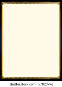 Elegant blue and gold background 5 - jpg version