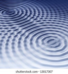 elegant blue ripples background with interference