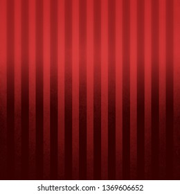 Elegant dark pin striped red vintage textured background with black and red gradient color and shine
