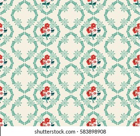 Elegant gentle trendy pattern in small-scale red flower. Millefleurs. Liberty style. Floral seamless background for textile, fabric, covers, manufacturing, wallpapers, print, gift wrap, scrapbooking.